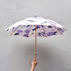 Parasol / 手染めの日傘・コットンパラソル / purple