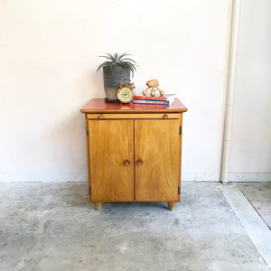 Birch Wood Formica Top BedSide Chest / Table 60's ドイツ