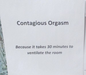 Contagious Orgasm - Because It Takes 30 Minutes To Ventilate The Room  7'Lathe Cut,