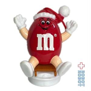 M&M's 1993 サンタハットピーナッツレッド ソリ クリスマスオーナメント