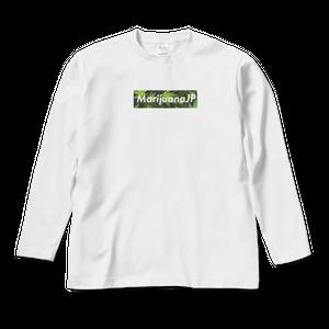 MarijuanaJPオリジナルロゴデザイン【 ロングスリーブTシャツ】(Box logo Leaf7色)