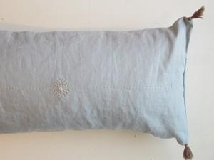 リネン横長刺繍cushion cover B