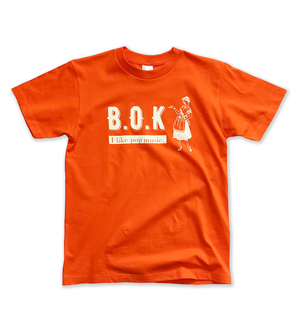 "B.O.K T-shirt ""orange&cream"""