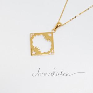 chocolatre「オペラ(大)」ゴールドペンダント