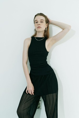 Double-sided sleeveless / Black