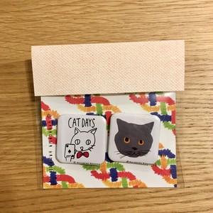 缶バッジセット_4 CAT DAYS / ブリティッシュショートヘア