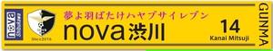 nova渋川 応援マフラータオルF