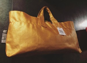 ★★★!!More Sale!!★★★ Painted‐tote OUTLET GOLD