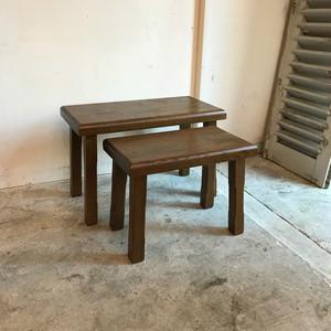 Vintage Oakwood Nest Table オランダ