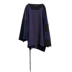 Wide-T-shirts mut(black/navy)