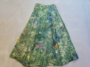 All over pattern rayon skirt [O-220]