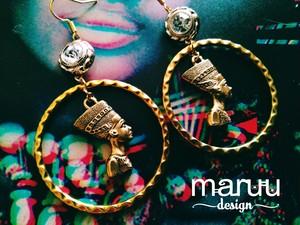大ぶりピアス 【Nefertiti Hoop Earrings】