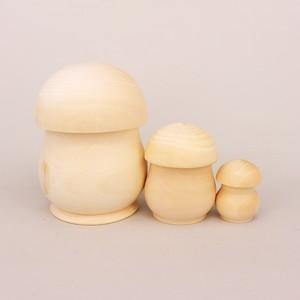 白木 きのこ型 3個型