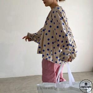 «sold out»«mom» dot pullover 2color  ドットプルオーバー ママサイズ