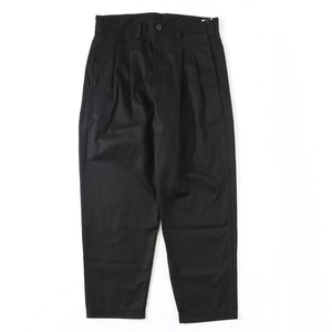 IS-NESS AH WIDE 2TUCK CHINO PANTS(BLACK)