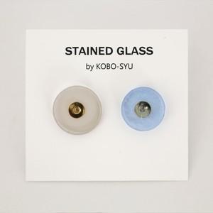 【一点物ピアス】長谷川昌彦/clear&blue