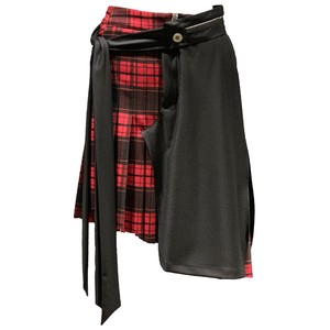 BEN TAVERNITI UNRAVEL Check Mix Skirt