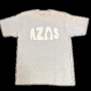 AZAS ロゴTシャツ (アッシュ×ホワイト)