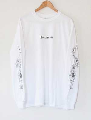 【STAY SICK CLOTHING】Floraison Long Sleeve (White)