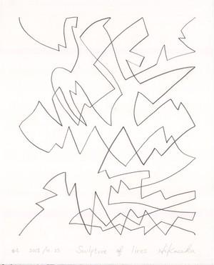 彦坂尚嘉『Sculpture of lines#4』オリジナル
