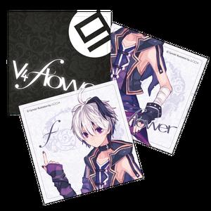 v flower大判ステッカーセット(3枚) (v4デザイン)