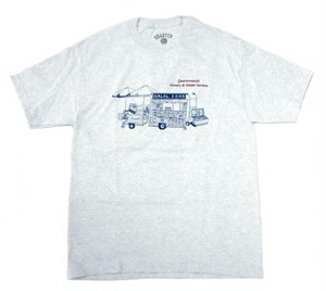 QUARTERSNACKS GROCERY & VENDOR SERVICES TEE Ash Grey L