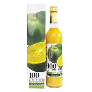 大宜味村 シークヮーサー ストレート 果汁100% 500ml ノビレチン 青切り 沖縄 お土産