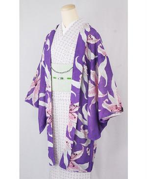 羽織【百合】紫