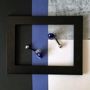 デザイナーズブランド/アクリルイアリングビッグアイBig Eye A type -blue