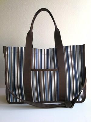 tidy stripe bag navy