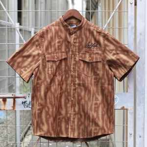 LEFLAH / レフラー | TIGER PATTERN NO COLLAR HS/SHIRT - Brown