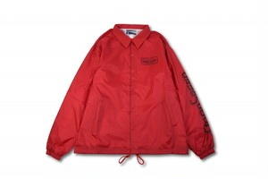 GOODSPEED equipment EVILACT(イーブルアクト) Logo Coach Jacket (spring) (red)