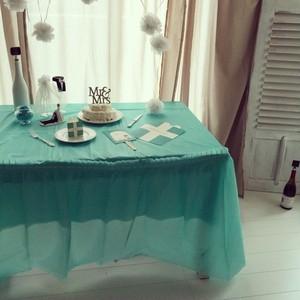 コピー:BLUE  テーブルクロス 丸テーブル用