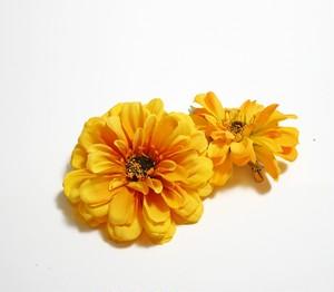 ヘアコサージュ(造花)*ポーラジニア01*イエロー 2個セット