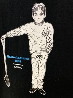 〈伊藤 潤二〉押切異談-首幻想- Tシャツ(BLACK)