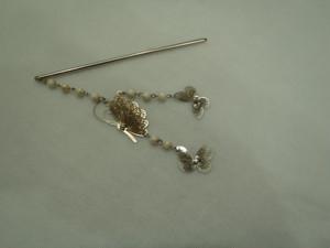シルバー簪(蝶3頭)