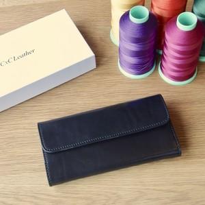 完成品 栃木レザーとリモンタナイロンの三つ折り長財布