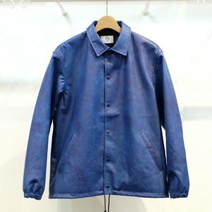 KUON(クオン) 藍染レザーブルゾン(コーチジャケット) Sサイズ