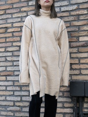 【WOMENS - 1 size】STITCH BOA ONEPIECE / 2colors