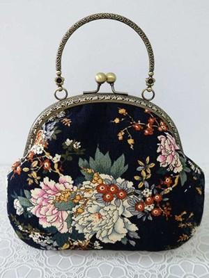 【accessories】Special design handmade print handbag
