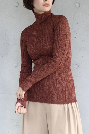 【SAYAKADAVIS】ribbed turtleneck-wine