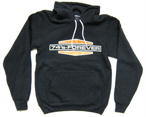 74's Foerever B&S logo pull over Hoodie,charcoal