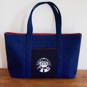 "Aizome(Indigo dyed) tote bag ""Inuhariko"" by Tedukuri Hinaya"