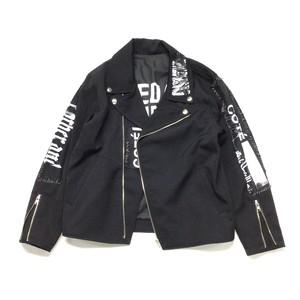 最高級ギャバウール リメイクライダースジャケット WOOL REMAKE RIDERS JACKET BLACK 【 rd105】