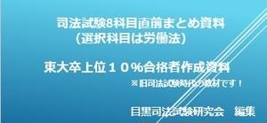 8科目(選択科目は労働法)まとめ資料(上位10%合格者作成)