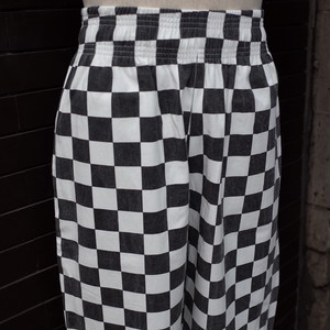 【BACKERS】Checker Flag Chef Pants / チェッカーフラッグ シェフパンツ コックパンツ