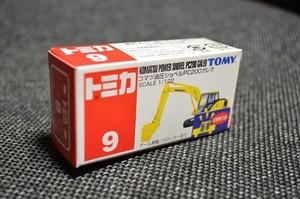 絶版 トミカ9 コマツ油圧ショベルPC200ガレオ