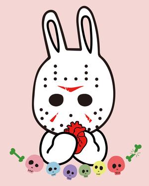 Creepy Bunny Pink スウェットパーカー 【 インクジェット 】
