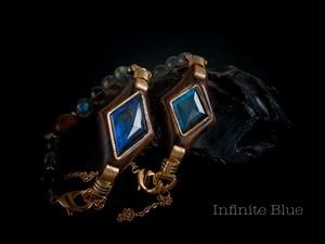 【Infinite Blue】ラブラドライト×ジリコテ/ロイヤルブルー/B171-1