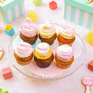 ウェルカムベビー(ピンク)カップケーキセット